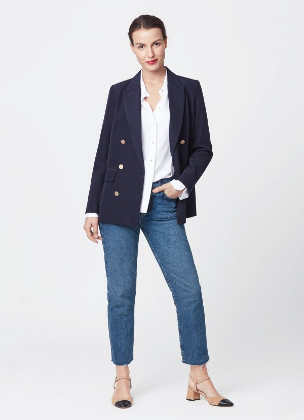 blazer marine tenue classique
