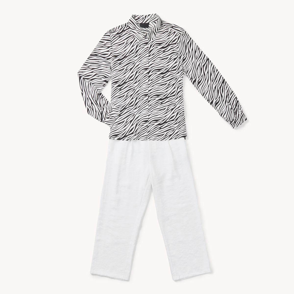 zebrure et pantalon claire tendances printemps ete 2020
