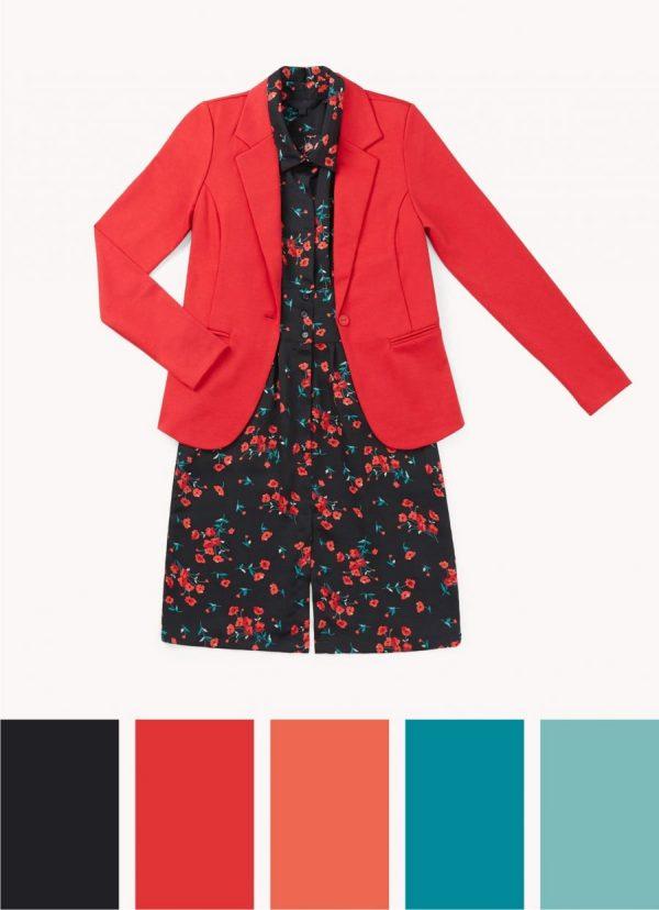 color rojo vibrante tendencia primavera 2020