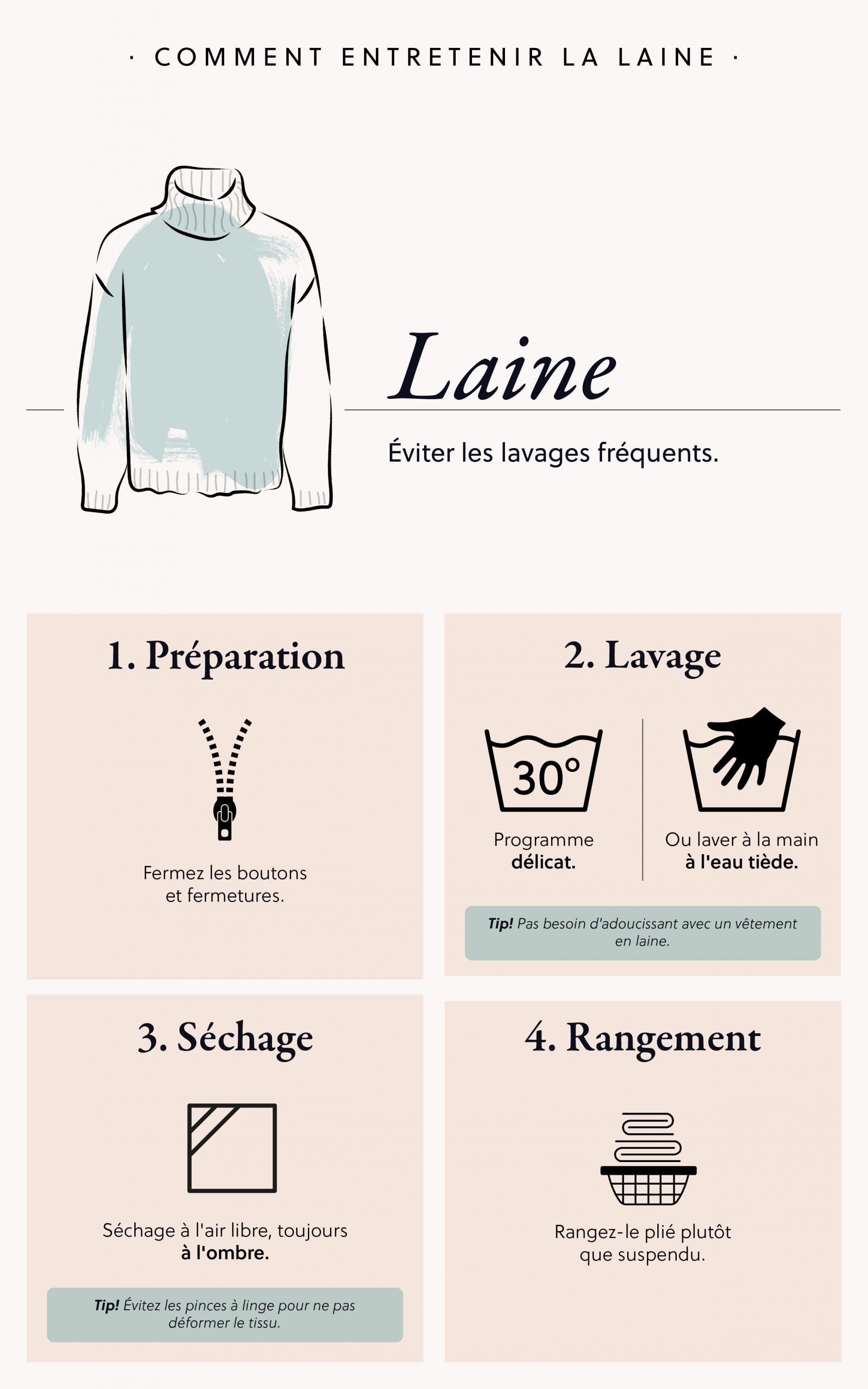 Comment prendre soin de vos vêtements en laine