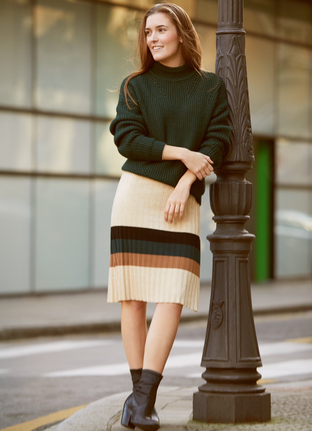 look vestido lana
