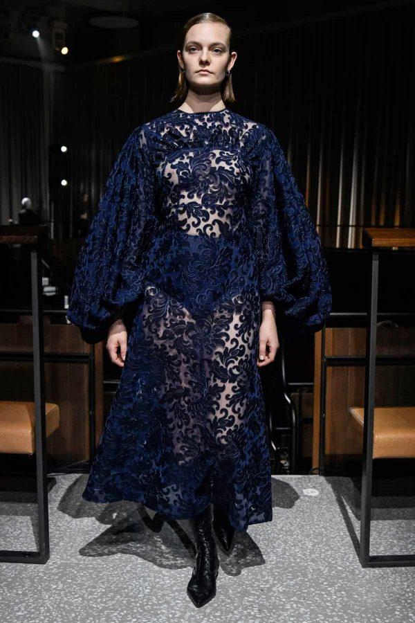 emilia-wickstead-aw2020 london fashion week dentelle