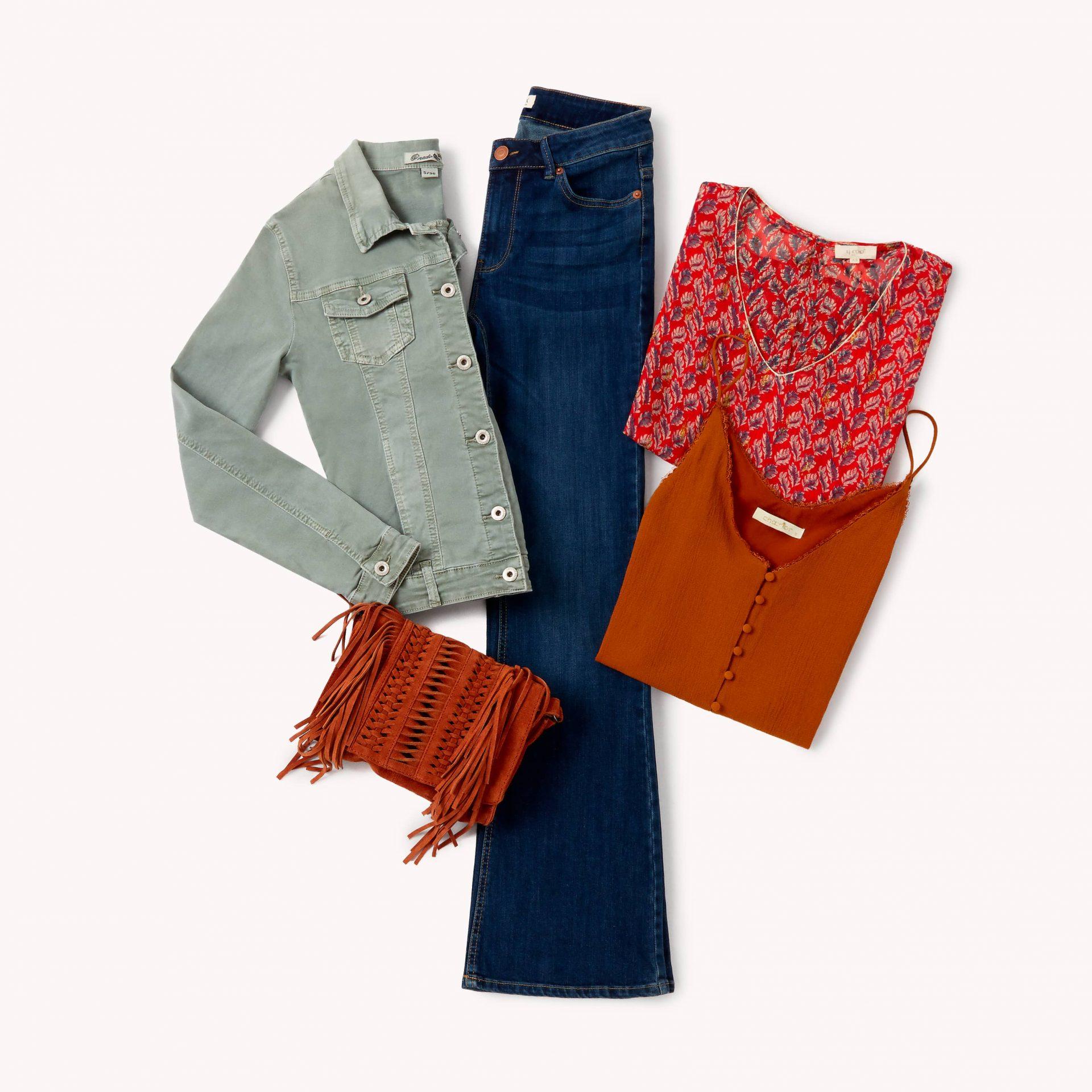 flare jeans lookiero