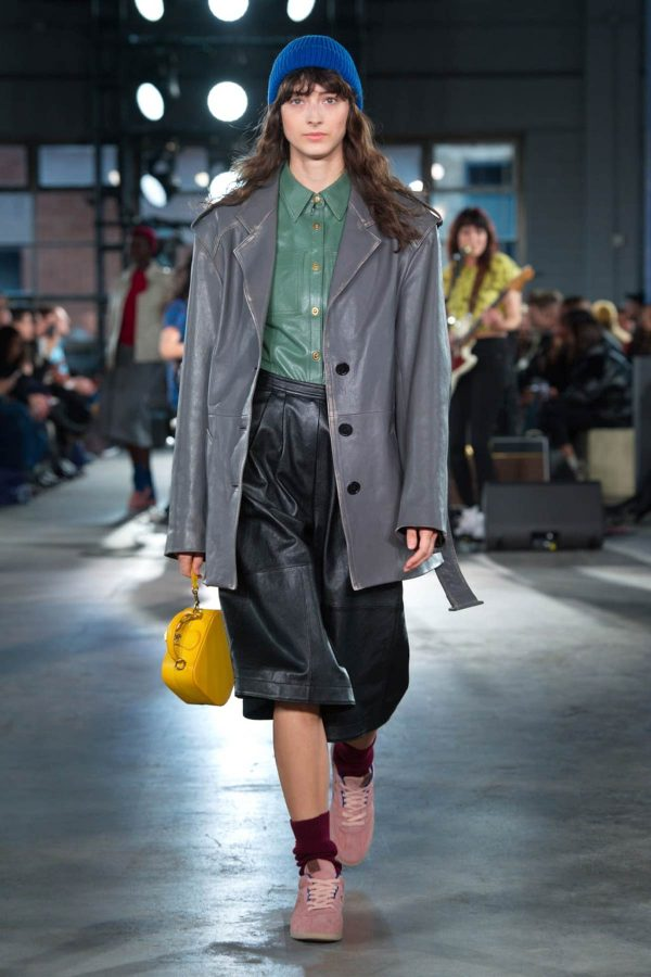 faux leather nyfw aw 2020