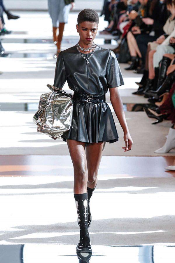 faux leather longchamp nyfw aw 2020