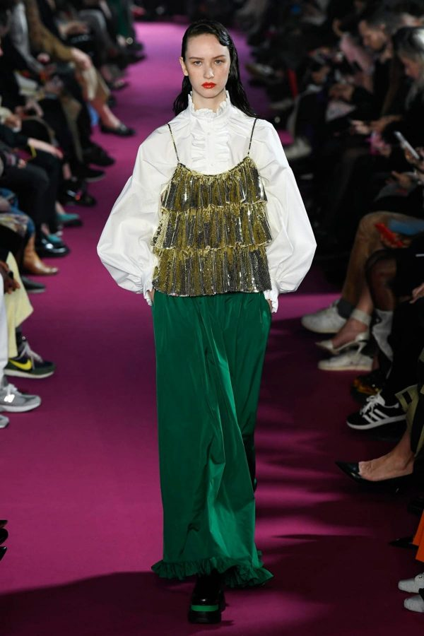 msgm aw20 milan fashion week gold