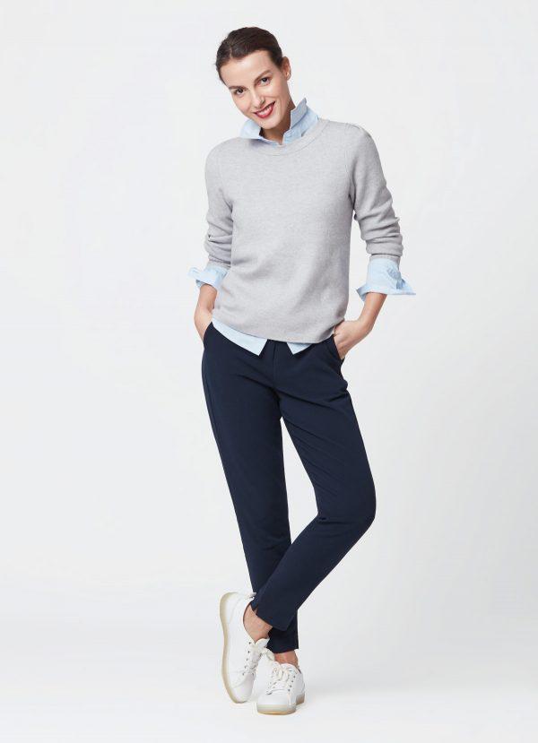 pull gris classique tenue