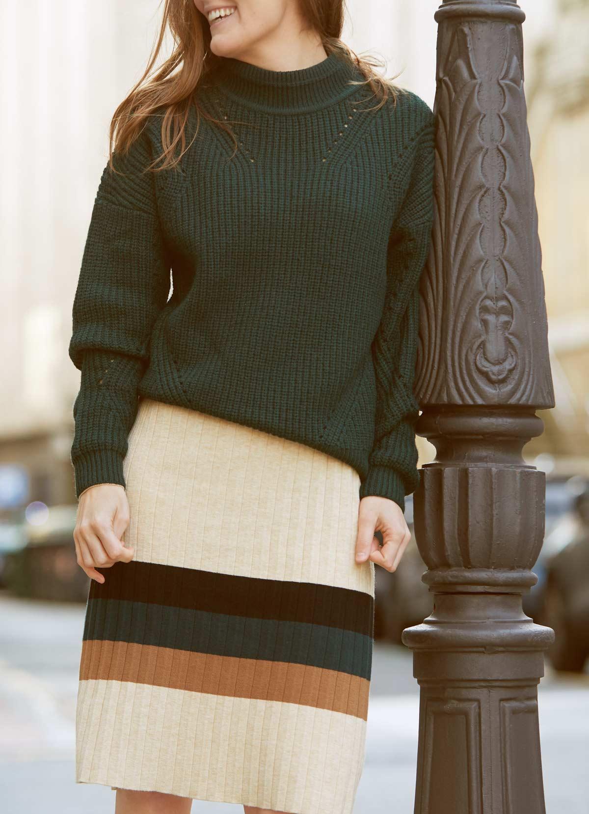 look vestido lana y jersey