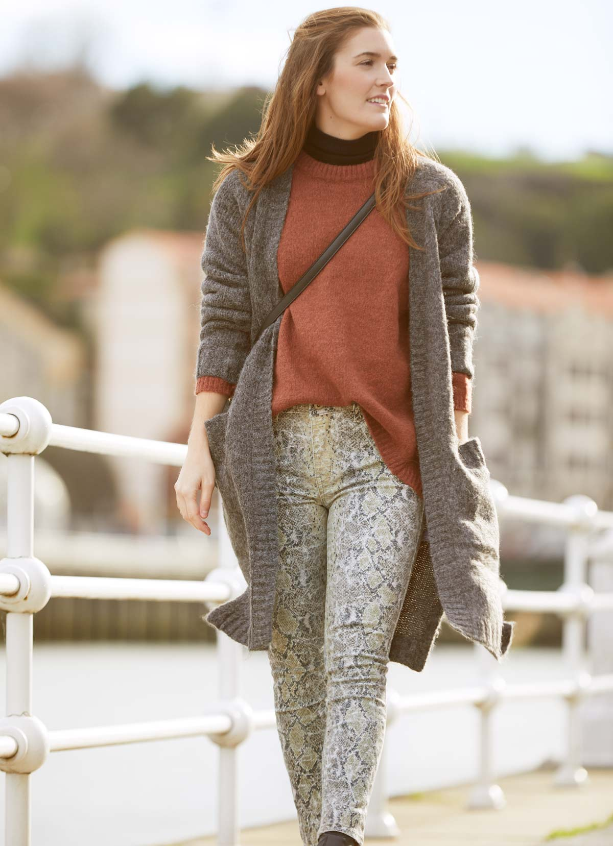 knit layering style