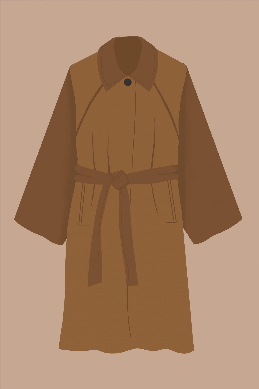 cómo es un abrigo clásico de paño