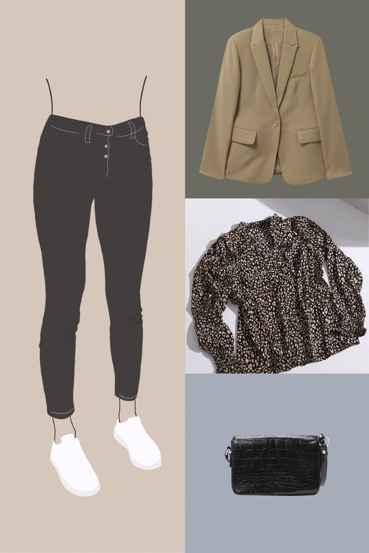 le jeans skinny silhouette en X