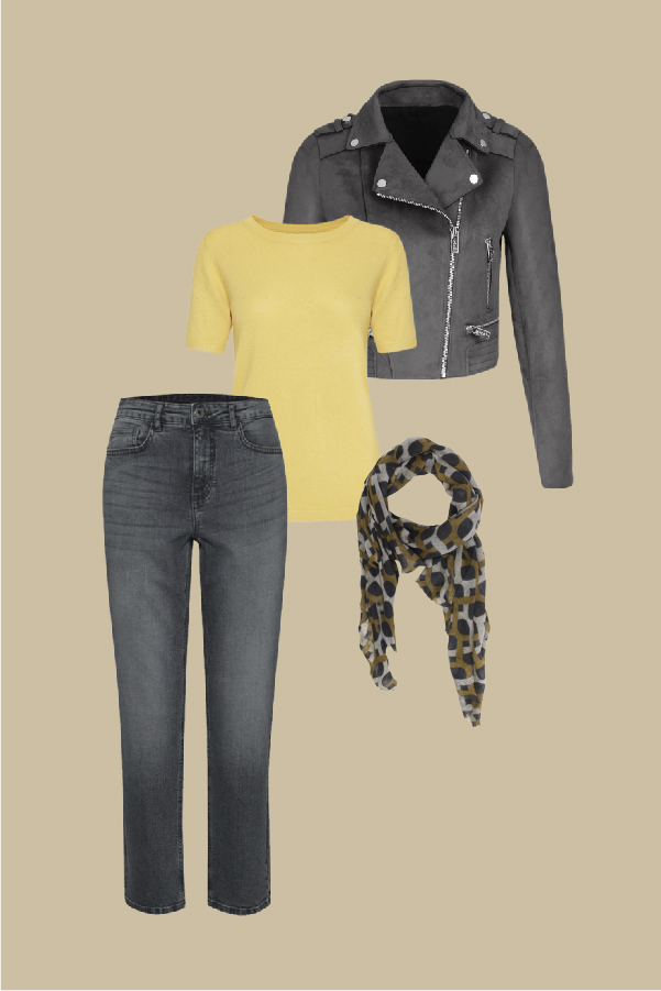 moutarde et gris tenue
