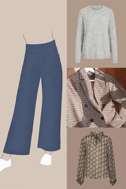 jupe-culotte silhouette en X