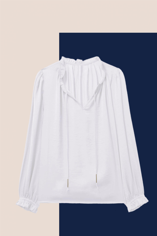 blusa romántica a partir de los 40
