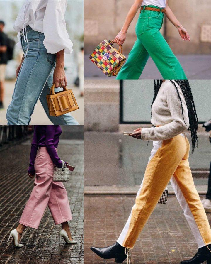 looks con jeans de colores