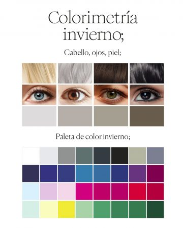paleta de colores colorimetria invierno