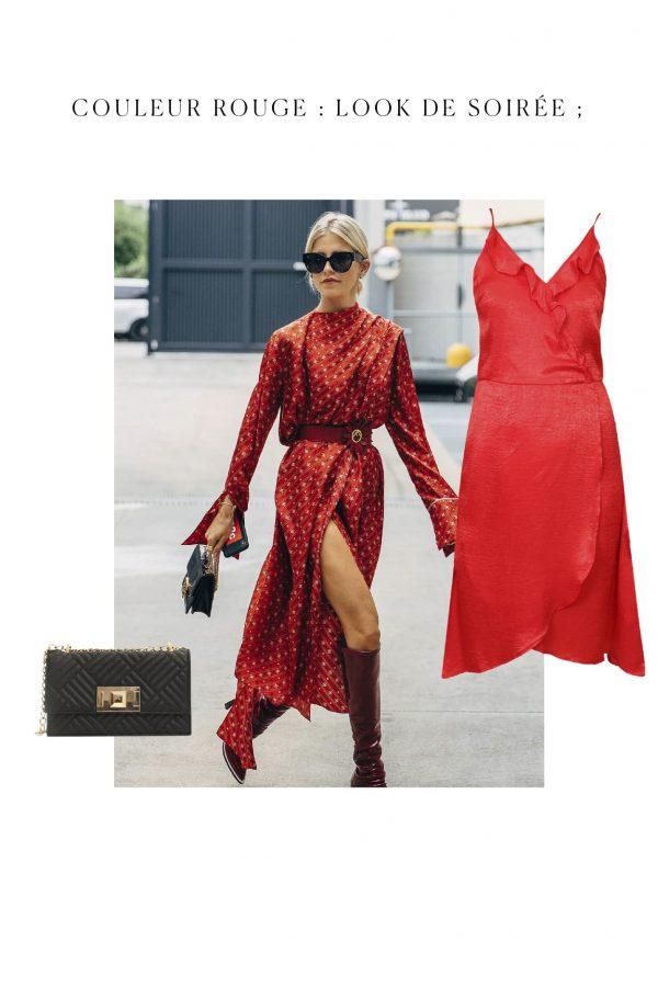 tenue rouge couleur tendance pour soire