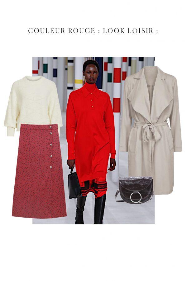 tenue rouge couleur tendance pour loiser