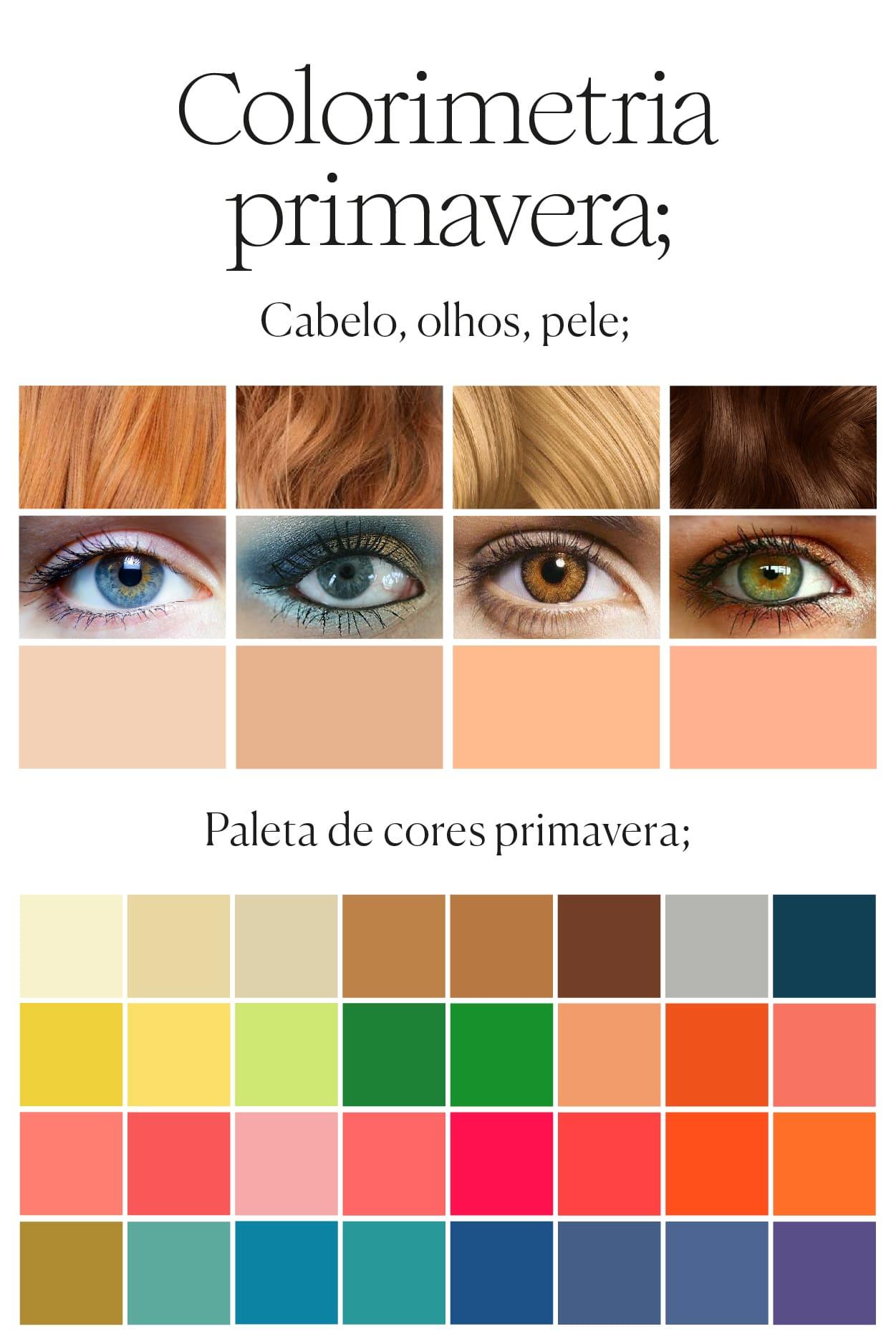 paleta de colores estación primavera