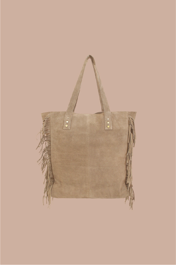 shopper bag con flecos