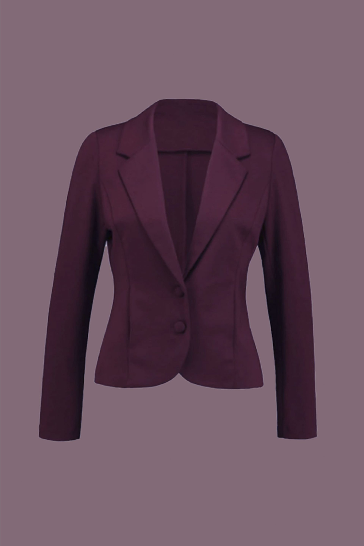le blazer burgundy