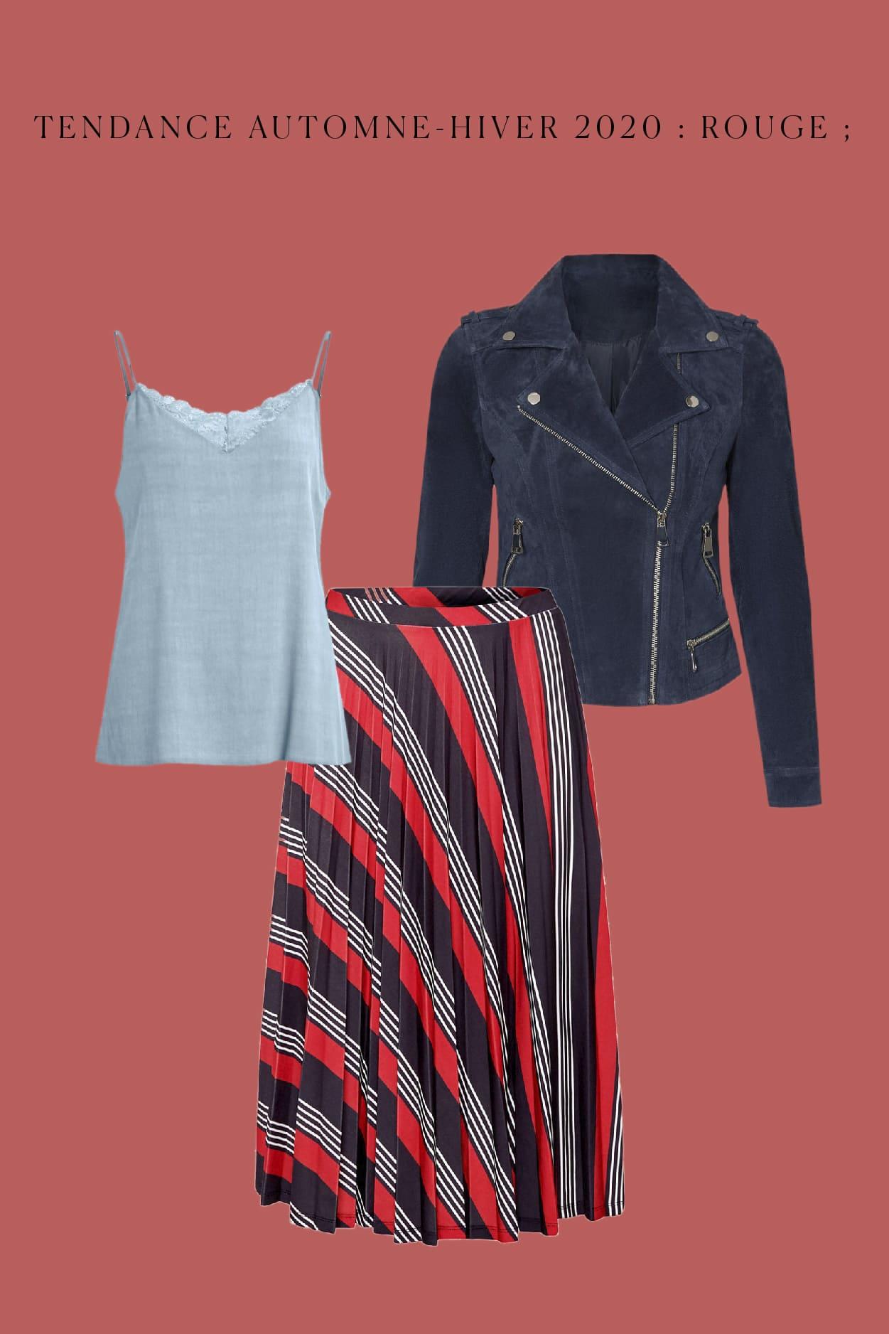 tenue trendy en rouge pour l'automen-hiver 2020-21