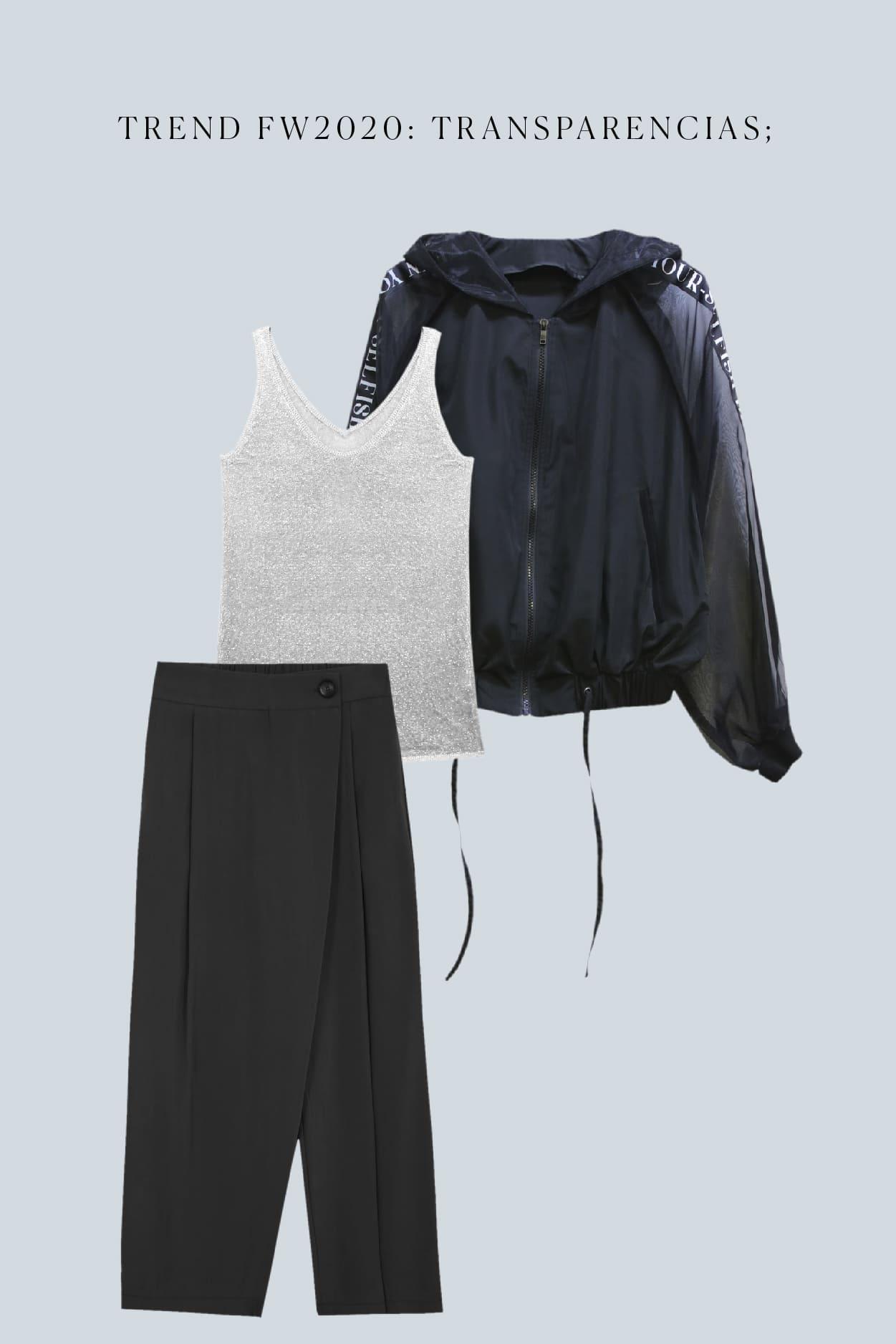 look con transparencias estilo minimal