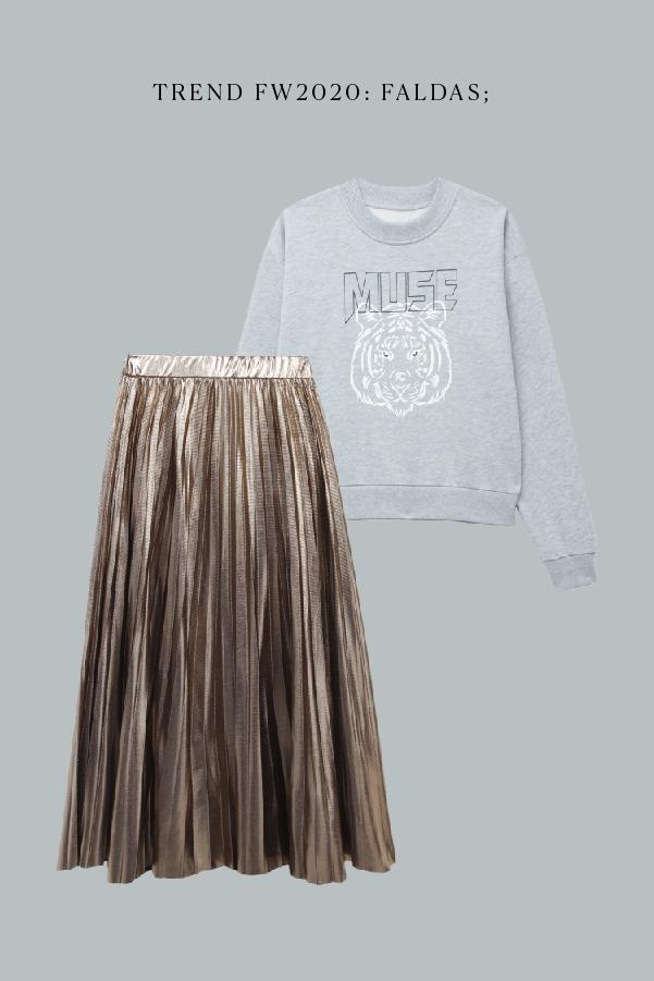 look falda otoño 2020
