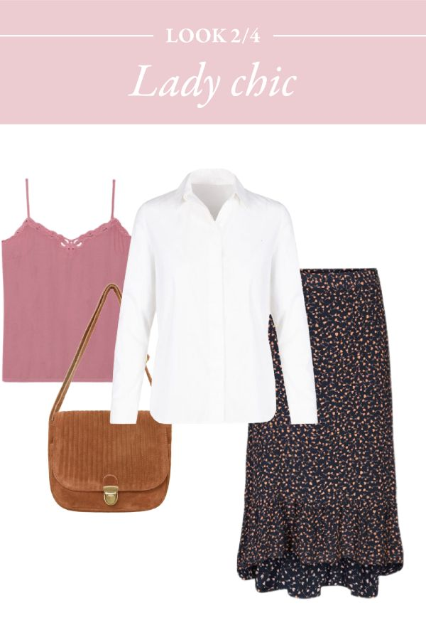 Comment bien associer la chemise blanche et la jupe midi ?