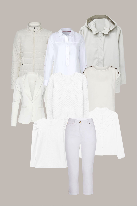 como combinar el color blanco