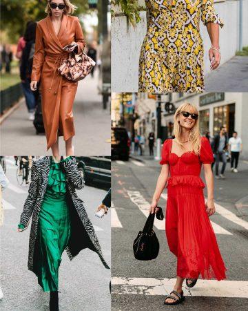 ideas de looks vestido midi