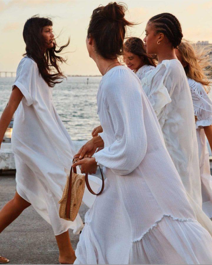 looks de l'été en robe blanche