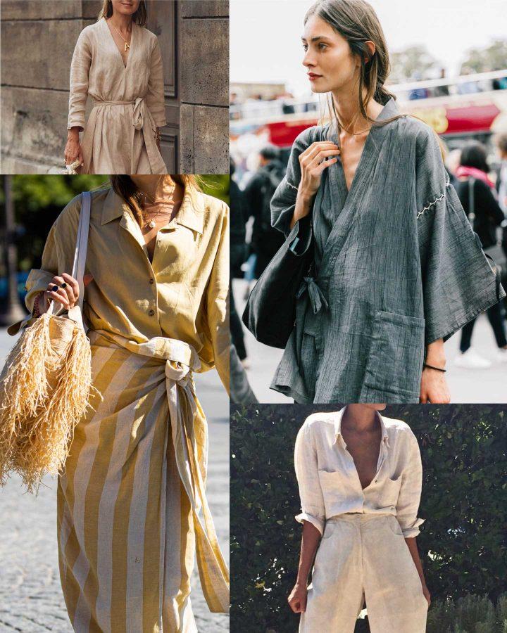 Comment porter du lin l'été