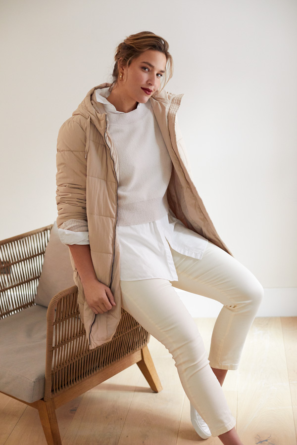 combinar el color blanco en look a capas