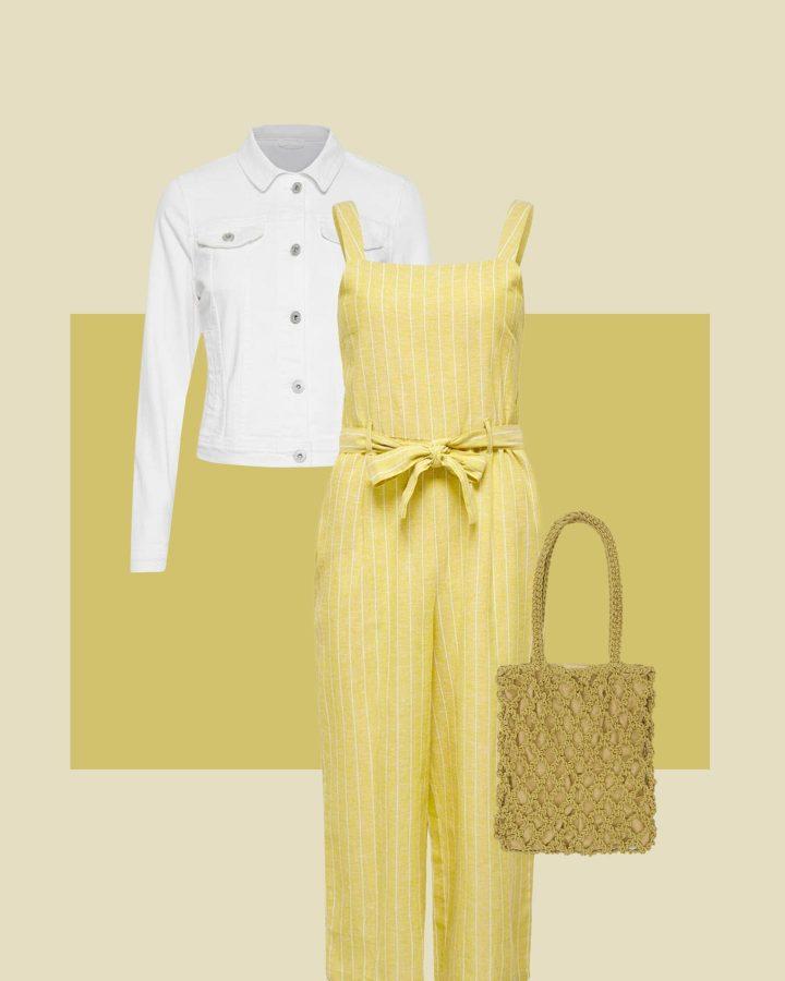 look amarillo y blanco
