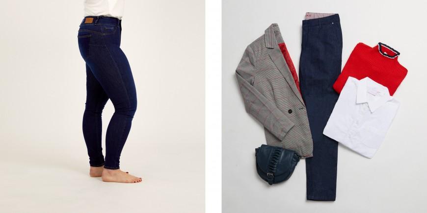 jeans para mujer con cuerpo triángulo