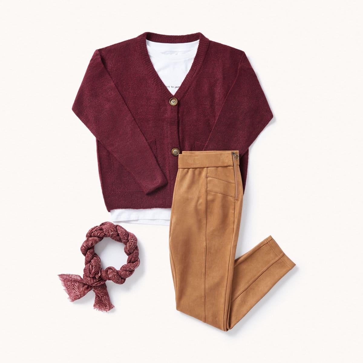 look con color burgundy