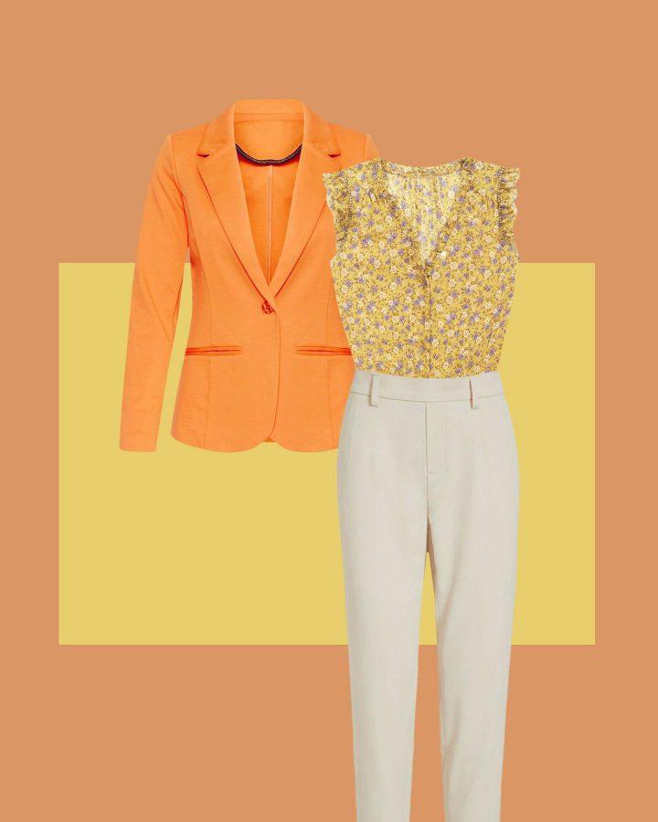 amarillo y naranja