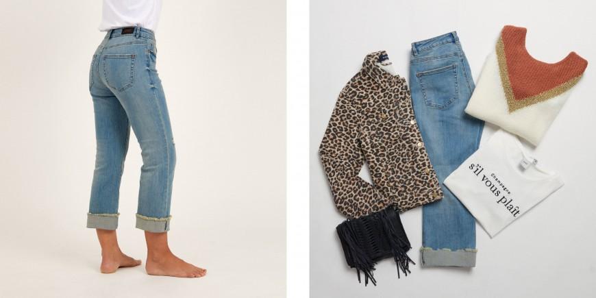 jeans para mujer con cuerpo rectángulo