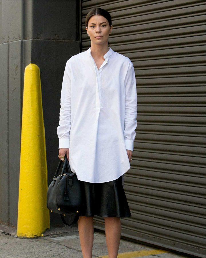 look camisa oversize street style
