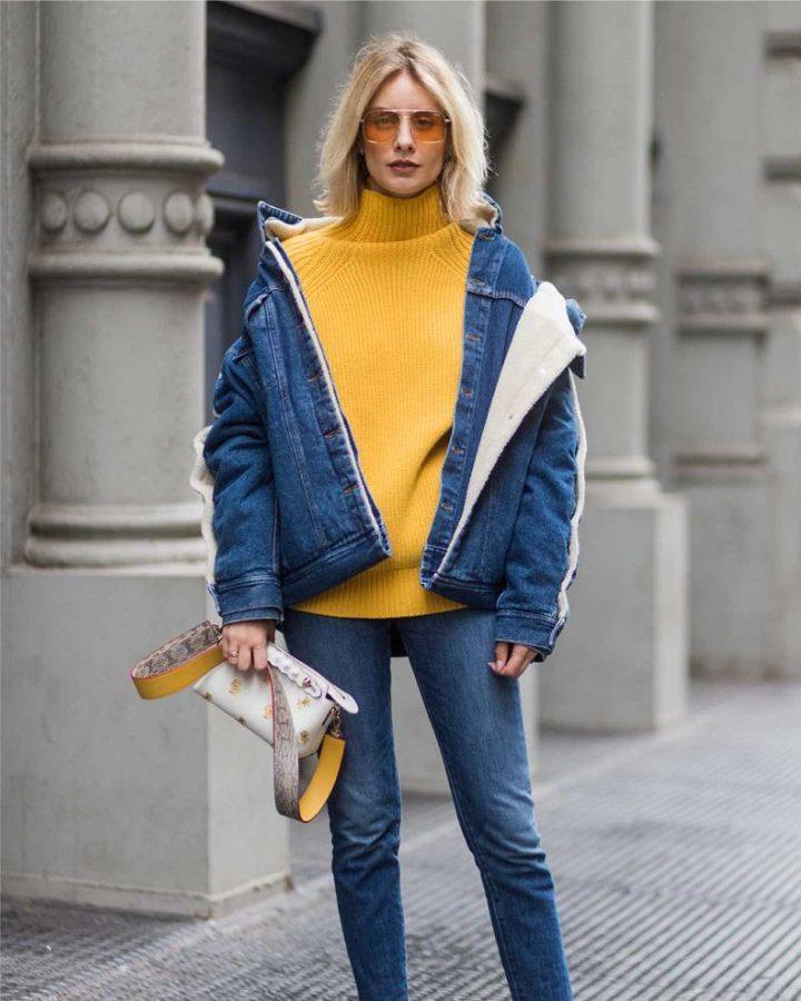 look amarillo y azul
