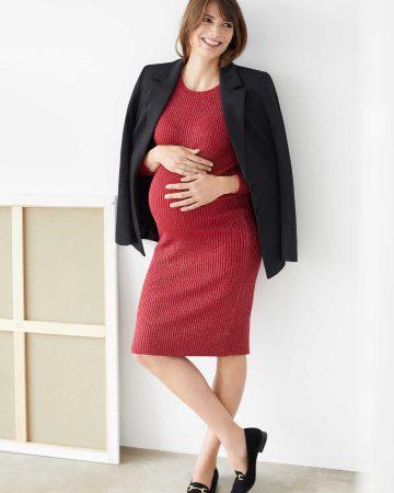 look noche embarazada con mocasines