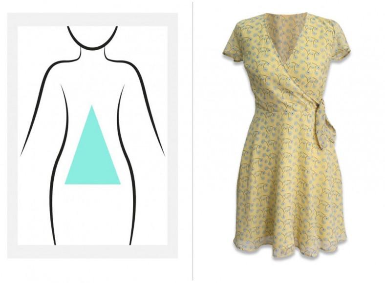 vestidos para cuerpo triángulo