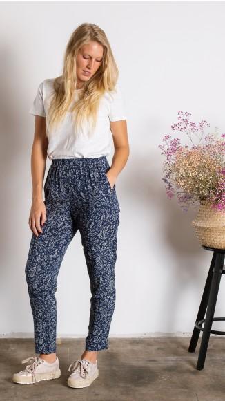 Pantalón mini-print fluído