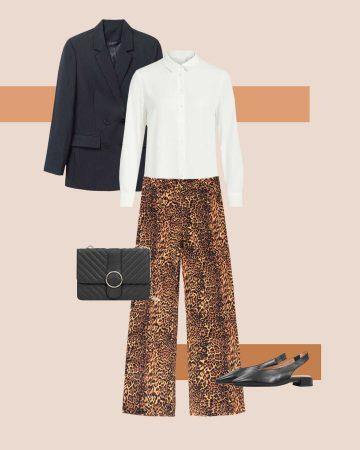 tenue Avec un pantalon léopard