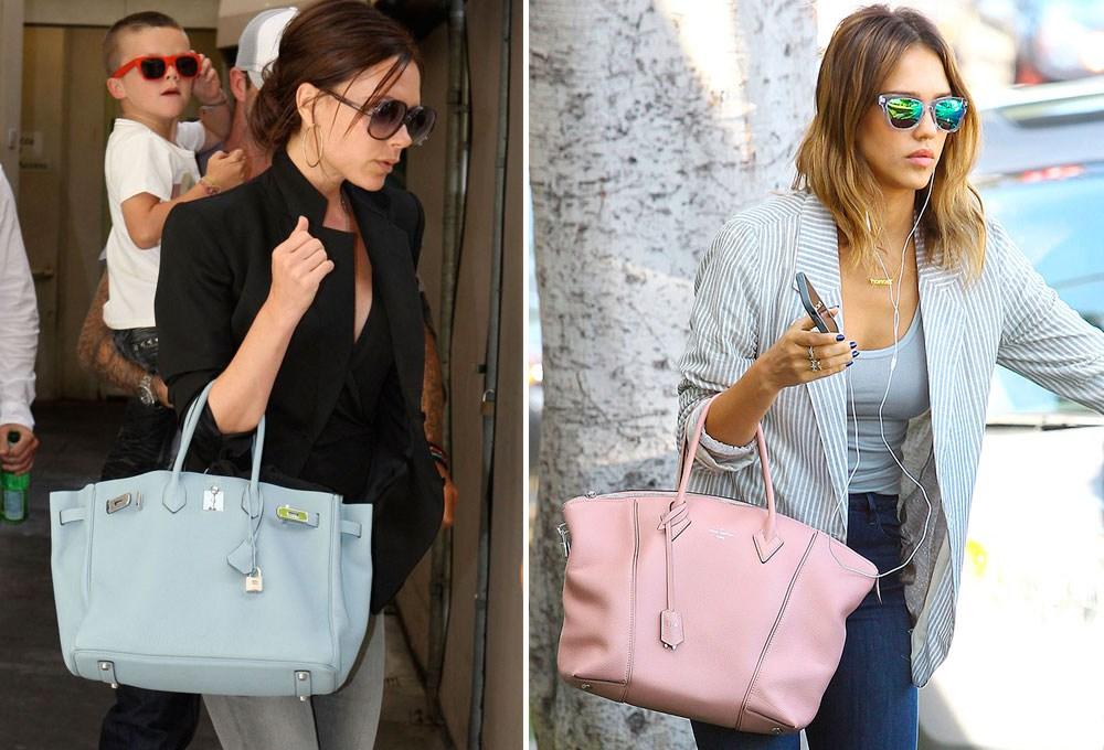 Bolsos pantone azul serenity y rosa cuarzo