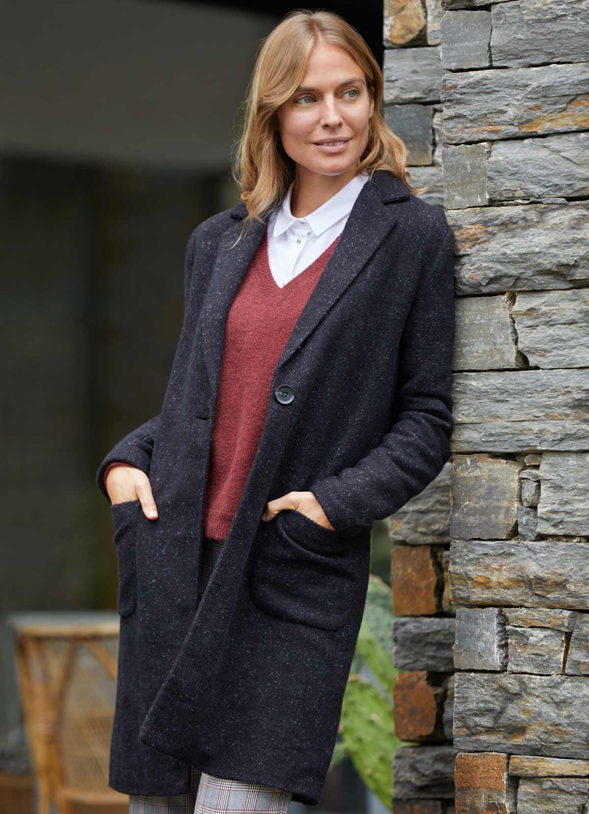 Le manteau de laine tenue hiver