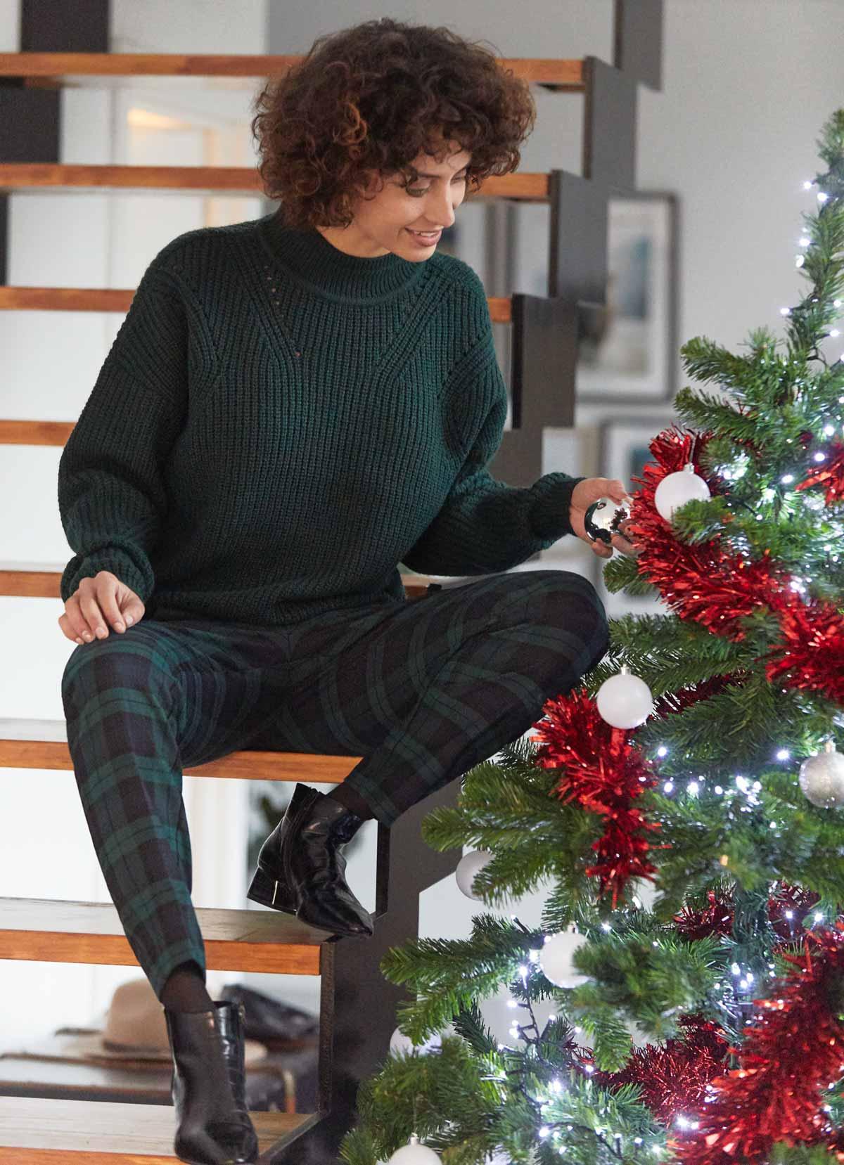 pantalon principe gales y jersey para comida amigas navidad