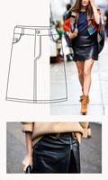 falda efecto cuero