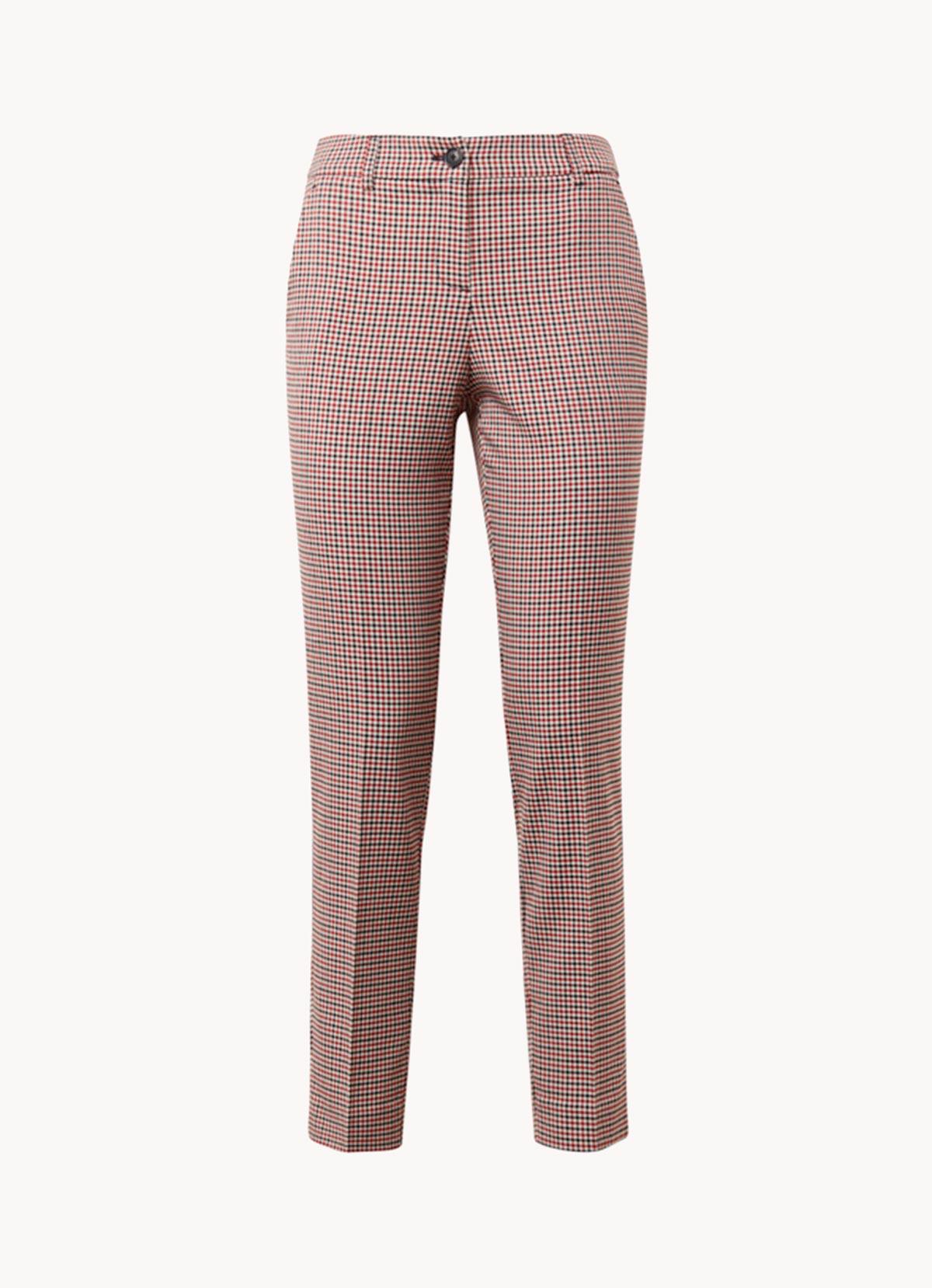 Le pantalon à carreaux coupe droite